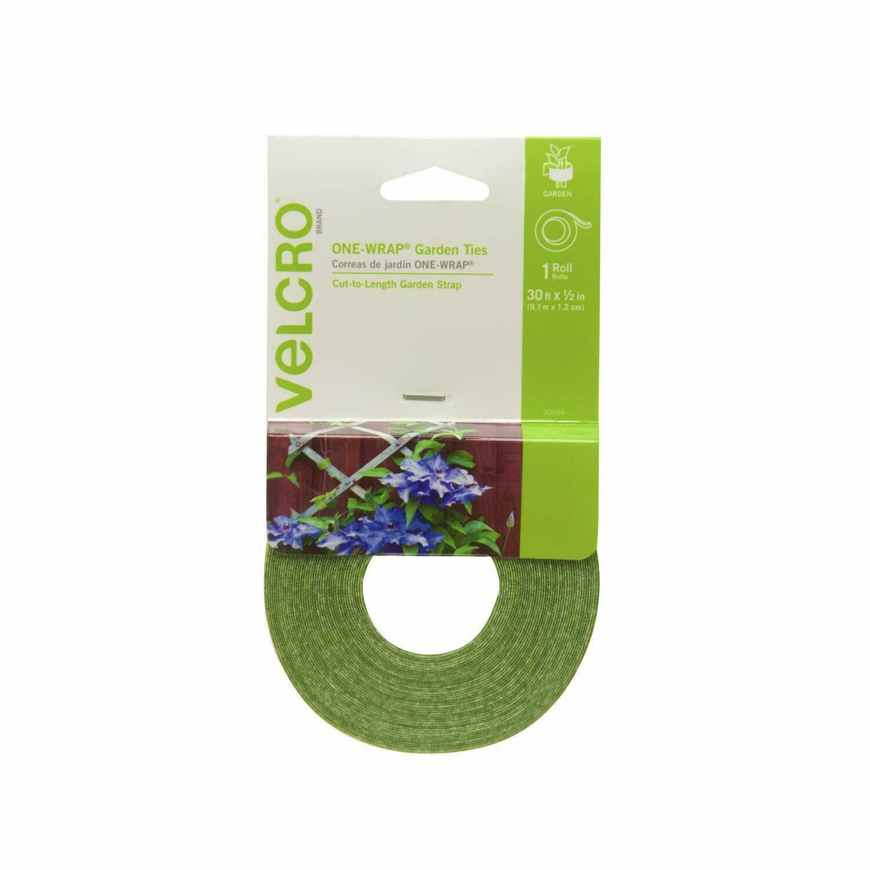 Velcro Green PLANT TIES 30 ft Cut to Length Garden Trellis Secures Support Tape! Home & Garden