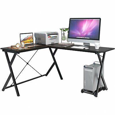 L Shaped Desk Home Office Desk PC Computer Gaming Laptop Table Workstation