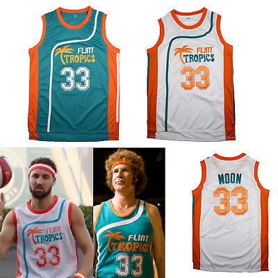Jackie Moon #33 Semi Pro Costume Basketball Jersey Flint Tropics Will Ferrell ](Jackie Moon Jersey)