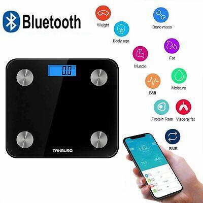 Badezimmer Waage (Körperfettwaage Digital Mit Bluetooth IOS APP 180KG Personenwaage Analysewaage)