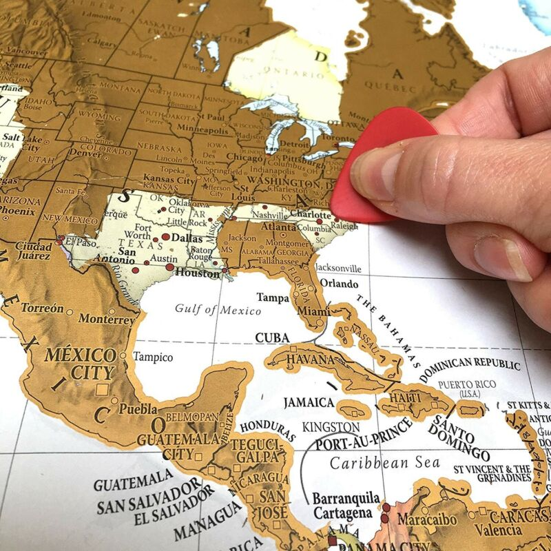 Maps - International Scratch The World Travel Map - Most Detailed Cartography
