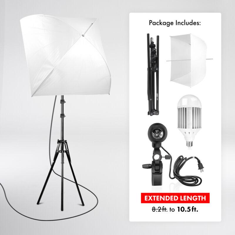 Photography Softbox Umbrella Lighting Kit, Equivalent 140W 6000K Daylight LED