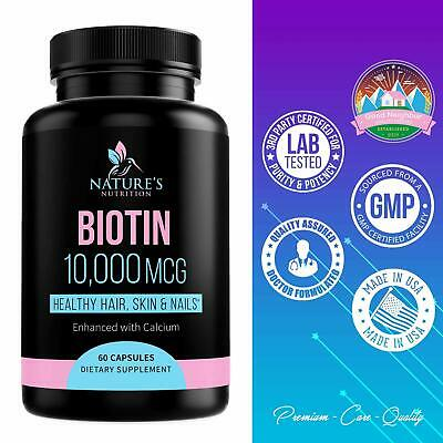 Potent Biotin Pills Vitamins For Skin Men Women Girls Best Hair Growth