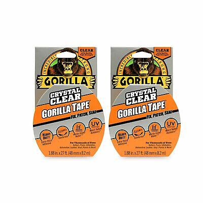 Gorilla Clear Repair Duct Tape 1.88 X 9 Yd. Clear Set Of 2