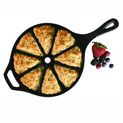 Cast Iron Wedge Pan Seasoned Cornbread Bread Pizza Pie Wedges Kitchen Camping Seasoned Cast Iron Pizza Pan