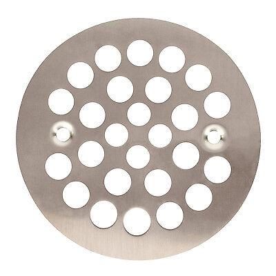 Satin Nickel Round Shower Grate Drain 4-1/4