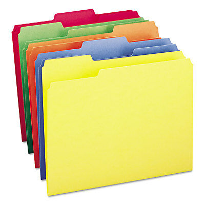 Smead File Folders 13 Cut Top Tab Letter Bright Assorted Colors 100box 11943