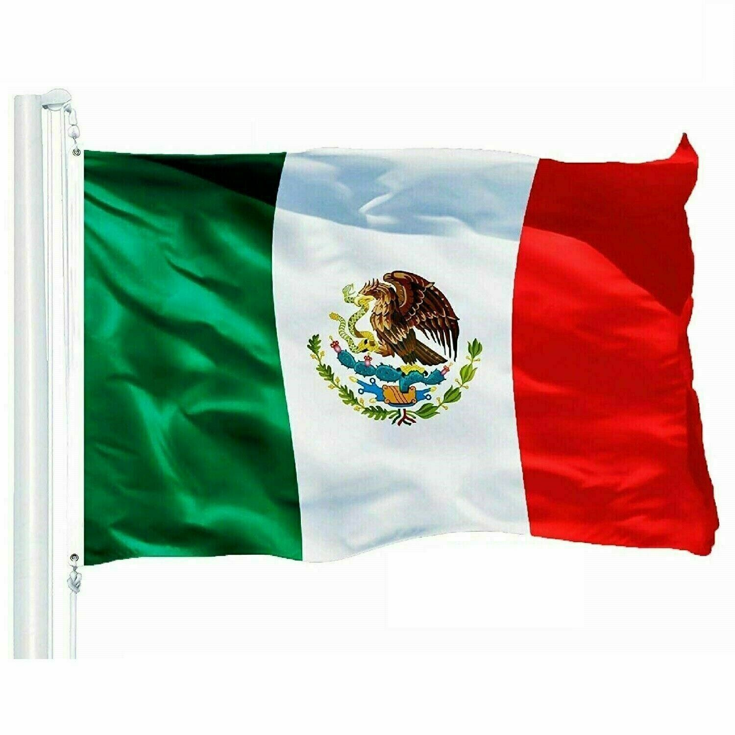 US Seller , 3×5 FT MEXICO FLAG LARGE MEXICAN LATIN LATINO fast shipping Décor