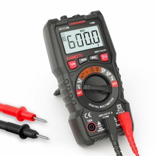 Digital Autoranging Multimeter with TRMS 4000 Counts NCV, Measures AC/DC Current