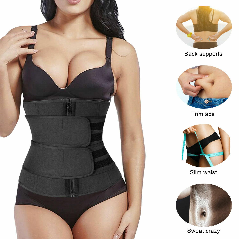 Women Waist Trainer Body Shaper Slimmer Sweat Belt Tummy Control Neoprene Band Clothing, Shoes & Accessories