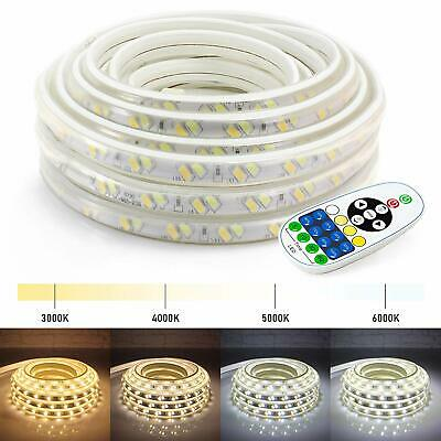 2550100ft Led Strip Lights Warm Cool White Indoor Outdoor Accent W Remote