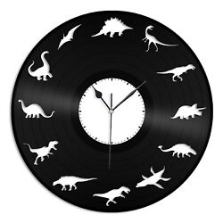 Dinosaurs Clock Vinyl Wall Clock Unique Gift for Animal Lovers Room Decoration