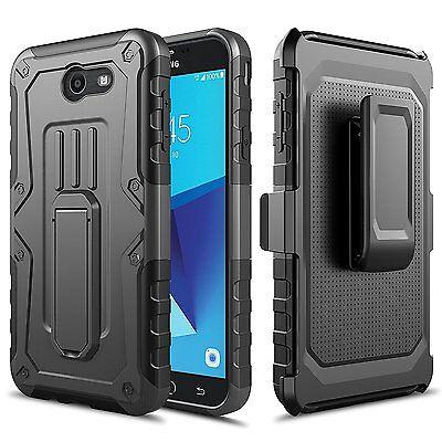 Samsung Galaxy J7 Prime   J727 Case  Impact Armor Kickstand Case With Belt Clip
