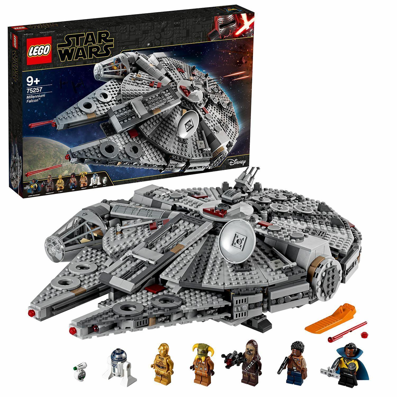 lego star wars 75257 millennium falcon starship with 7