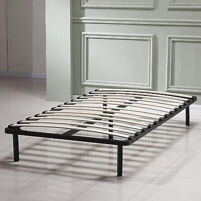 Twin Bedroom Slat Bed Frame Platform Double Size Solid Wood Steel Home Furniture