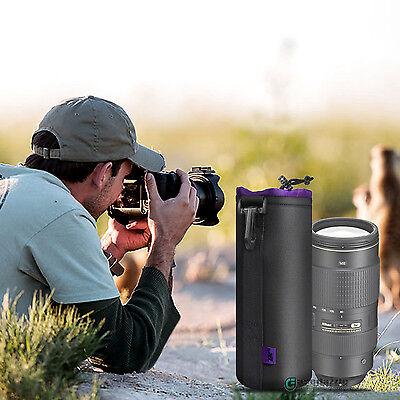 X-large Size Waterproof Neoprene Soft DSLR Camera Lens Pouch Protector Bag Case (Neoprene Lens Case)