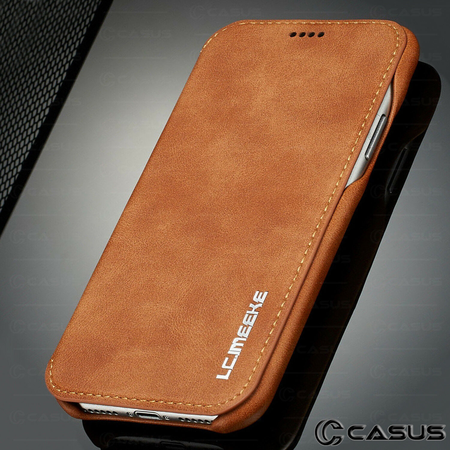 Luxury Leather Wallet Stand Thin Slim Skin Case Cover for iPhone X & 8/7/6 Plus
