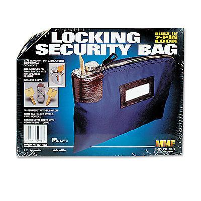 Night Deposit Zipper Bag (Mmf Industries Seven-Pin Security/Night Deposit Bag w/2 Keys Nylon 8 1/2 x 11 )