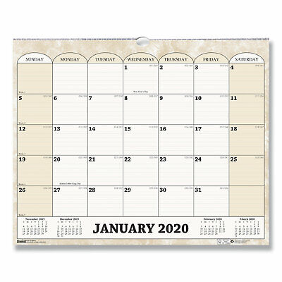 House Of Doolittle Recycled Monthly Horizontal Wall Calendar 14 7/8 x 12 -