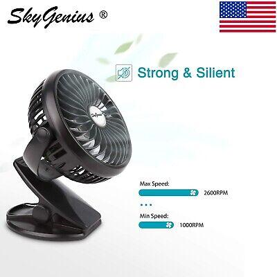 Portable USB Mini Fan 2600mA Battery Operated Rechargeable Clip On Desk Fan Battery Operated Clip Fan