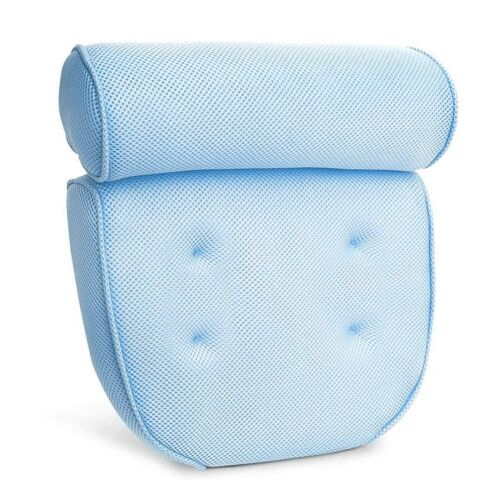 Bath Pillow for Tub with Suction Cups Soft Non Slip Neck Shoulder Head Support