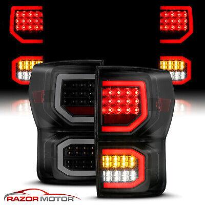 For Smoke Black 07-2013 Toyota Tundra Dual C-Shape Bar Full LED Brake Taillight