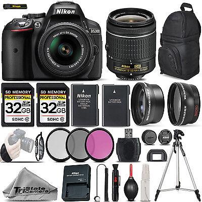 Nikon D5300 Digital SLR Camera +3 Lens 18-55mm VR + 64GB -Great Saving Full Kit