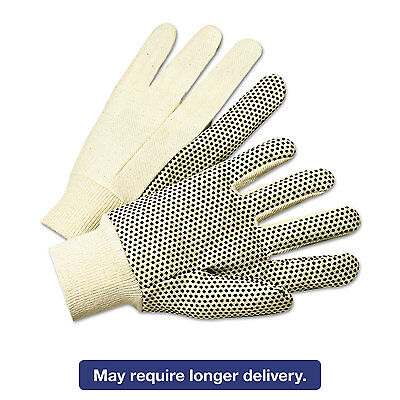 Anchor Brand Pvc-dotted Canvas Gloves White One Size Fits All 12 Pairs 1000