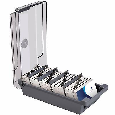 Business Card Holder Box File Storage Index Organizer Rolodex 500 Cards Size 4