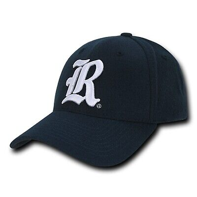 University Of Rice Owls Flex Baseball 6-Panel Crown Acrylic Fitted Ball Cap Hat (Rice Hats)