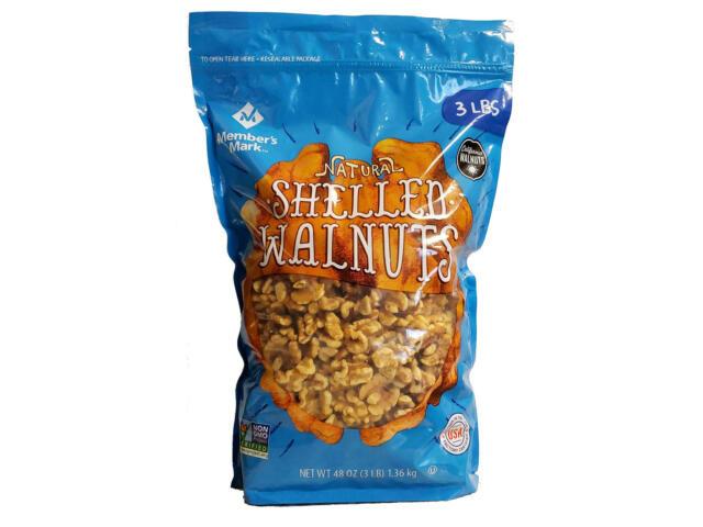 Member's Mark Natural Shelled Walnuts (3 lbs.) - Non GMO