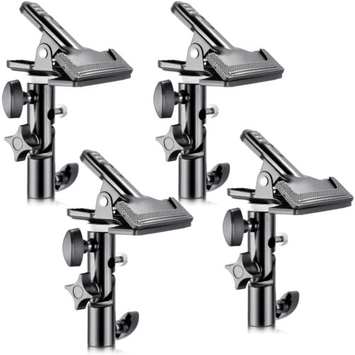 """Neewer 4 PCS Studio Clamp Holder with 5/8"""" Light Stand Attachment for Reflector"""