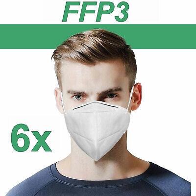 FFP3 EN149 AtemMaske Atemschutzmaske Schutzmaske Bakterien Filtermaske 6 Stück