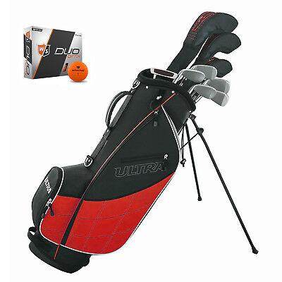 Wilson Ultra Men's Complete 13 Piece Right Handed Golf Club Set w/ Bag & Balls