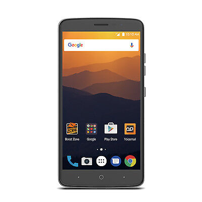 """ZTE Max XL 6"""" Android 16GB LTE Smartphone for Boost Mobile - New"""