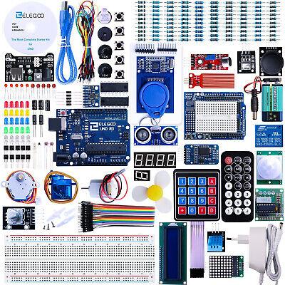 ELEGOO UNOR3 Arduino Projekt Baukasten Ultimate Starter Kit Zubehör 200