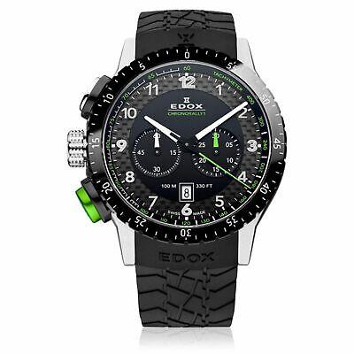 EDOX 10305 3NV NV Men's Chronorally 1 Black Quartz Watch