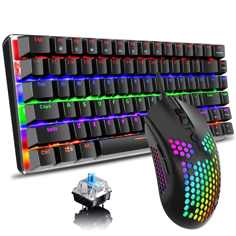 US Ajazz AK33 Rainbow Backlit Gaming Mechanical Keyboard + R