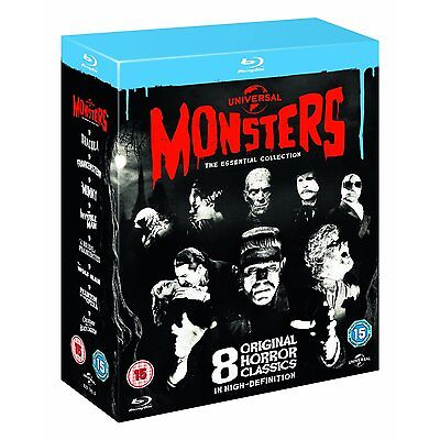 Universal Classic Monsters The Essential Collection BLU-RAY Box Set BRAND NEW - Classic Family Halloween Movies