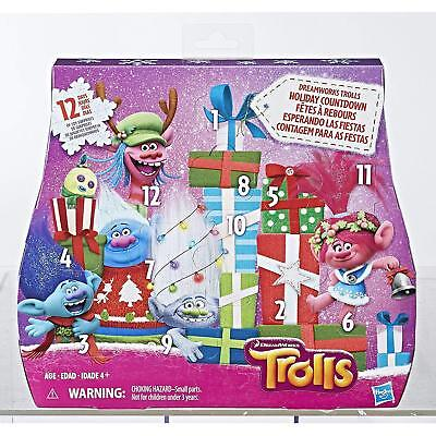 DreamWorks Trolls Holiday Countdown Advent Calendar 12 Days of Toys *Sealed*