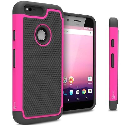 Pink Neon Hard Case for Google Pixel Hybrid Phone Cover