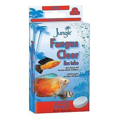 JUNGLE FUNGUS CLEAR TABS 8 TABLETS FRESHWATER FISH AQUARIUM REMEDY.FREE SHIP USA