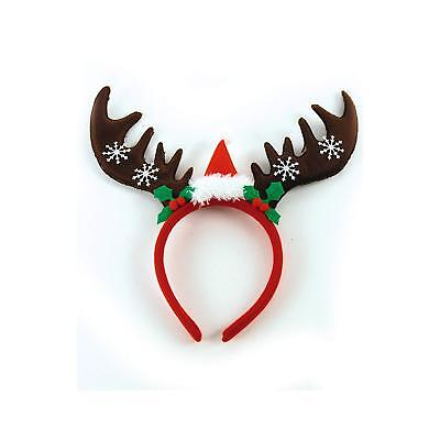 Haarreifen Rentier Elch Weihnachtsmannmütze, Einheitsgröße, Weihnachten