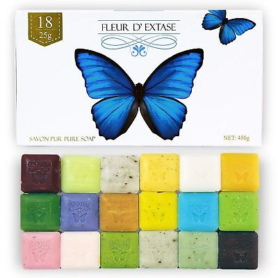 Fleur D' Extase (Ecstacy) Soap Gift Set With 18 Bars Of Guest Soaps - All Natura Gift Set Soap