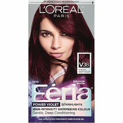 LOreal Paris Feria Hair Color, V38 Intense Deep Violet
