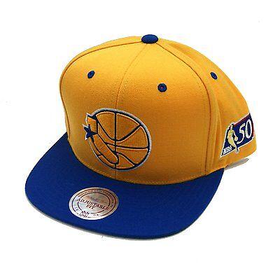 Mitchell Ness Golden State Warriors Nba 50Th Anniversary Snapback Hat