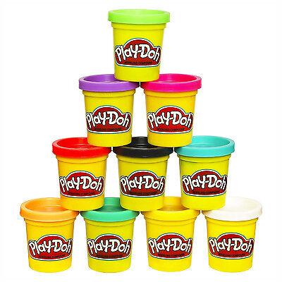 Play-Doh Modeling Compound Colors Case Kid Children Toy Clay Pack of 10 Cans NEW