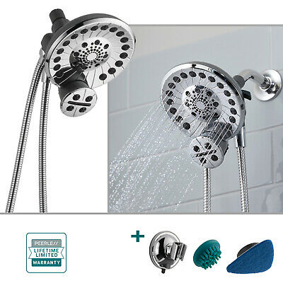 Peerless SideKick 2-in-1 Shower System 5-Spray Dual Shower Head Handheld, Chrome Handheld Shower System