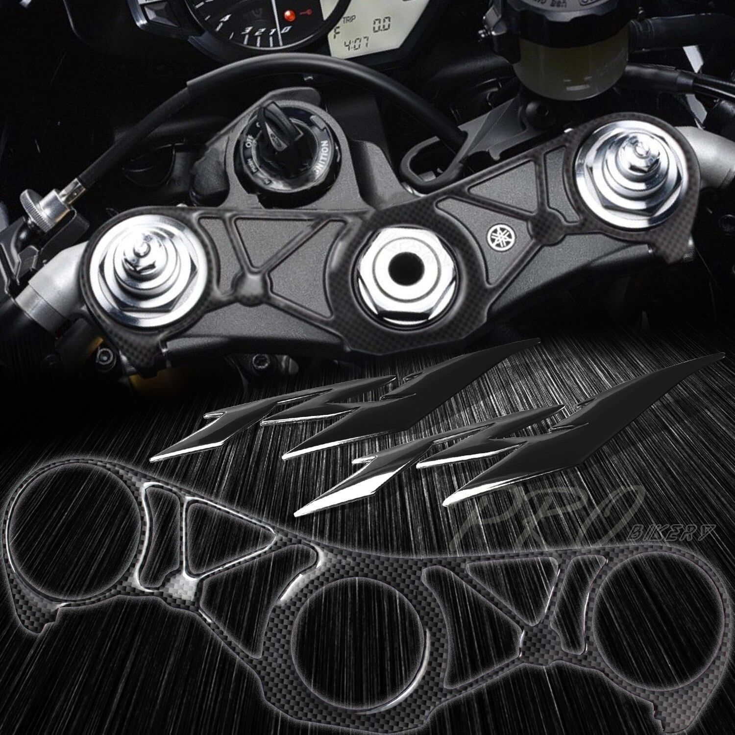YAMAHA YZF R1 1998-2001 Carbon Fiber Effect Top Yoke Protector Cover Decal
