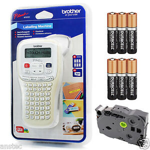 Brother P-Touch Handheld Label Printer with Batteries and 4m Tape H101C